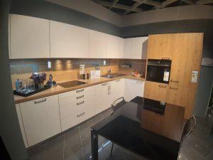Küche Front weiß eiche